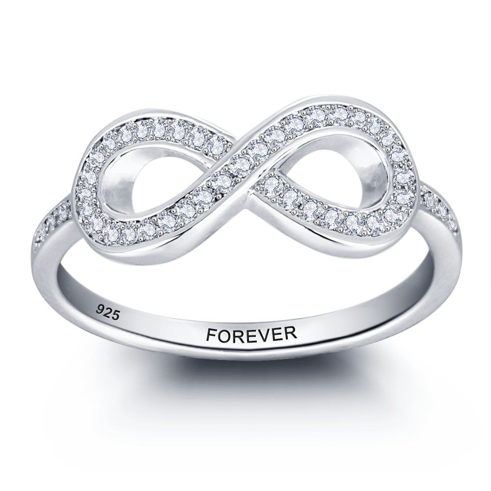 Lover\' Gift Personalized 925 Sterling Silver Promise Names Ring ...