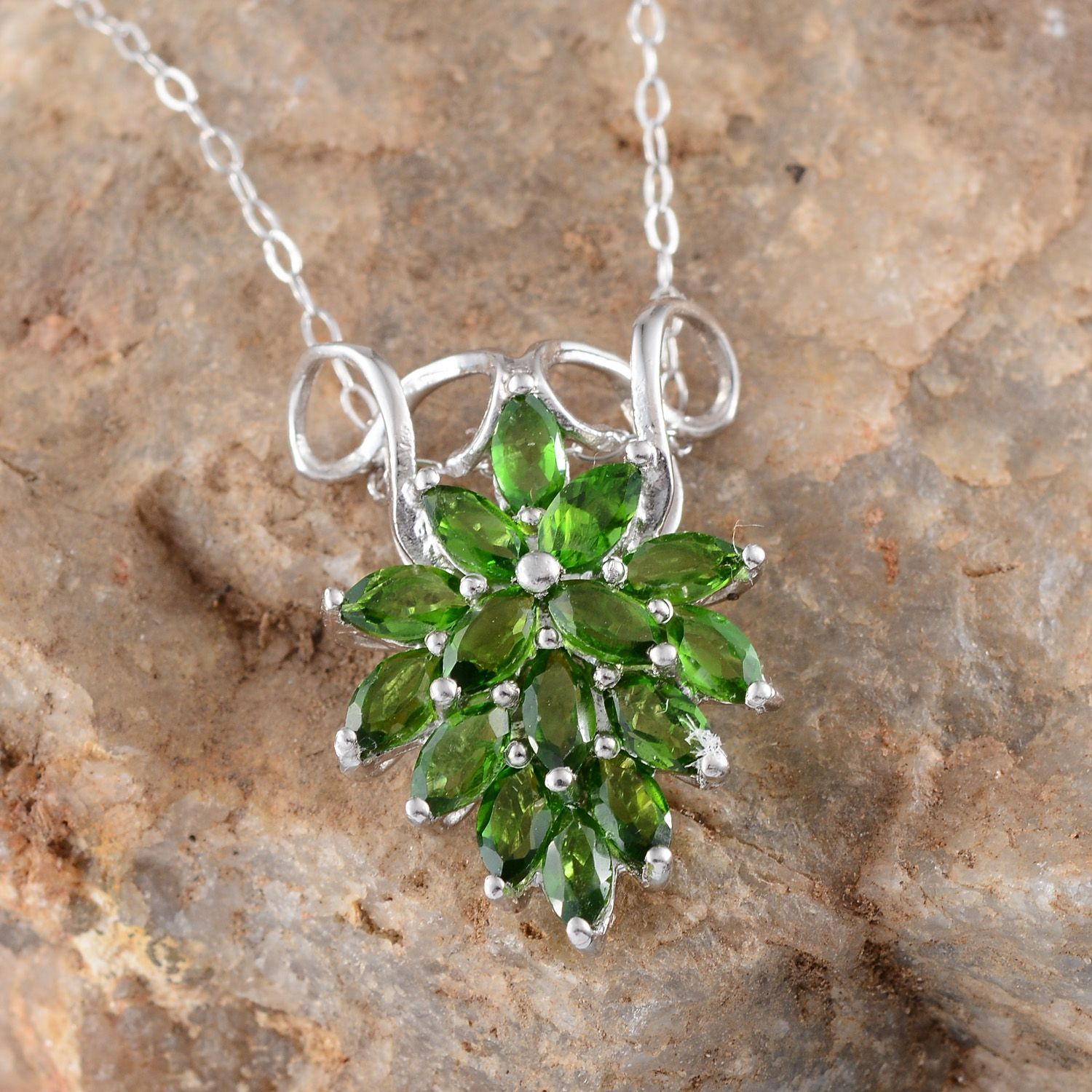 Liquidation channel russian diopside pendant with chain 18 in in liquidation channel russian diopside pendant with chain 18 in in sterling silver nickel free russian diopside jewelry pinterest chains aloadofball Images