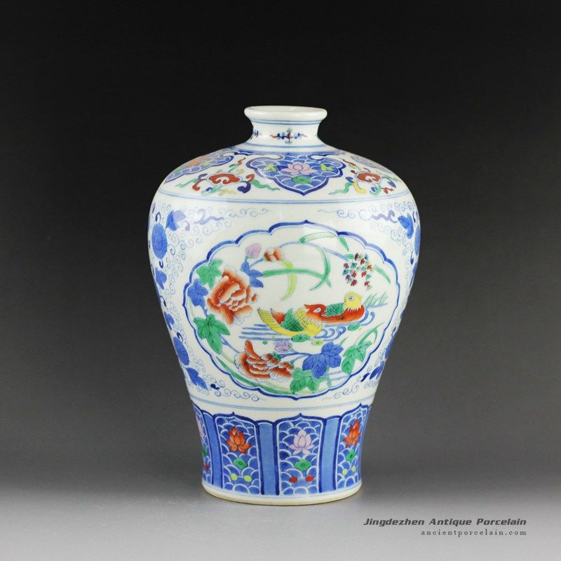 Qing Dynasty Reproduction Jingdezhen Porcelain Vases Hand Painted
