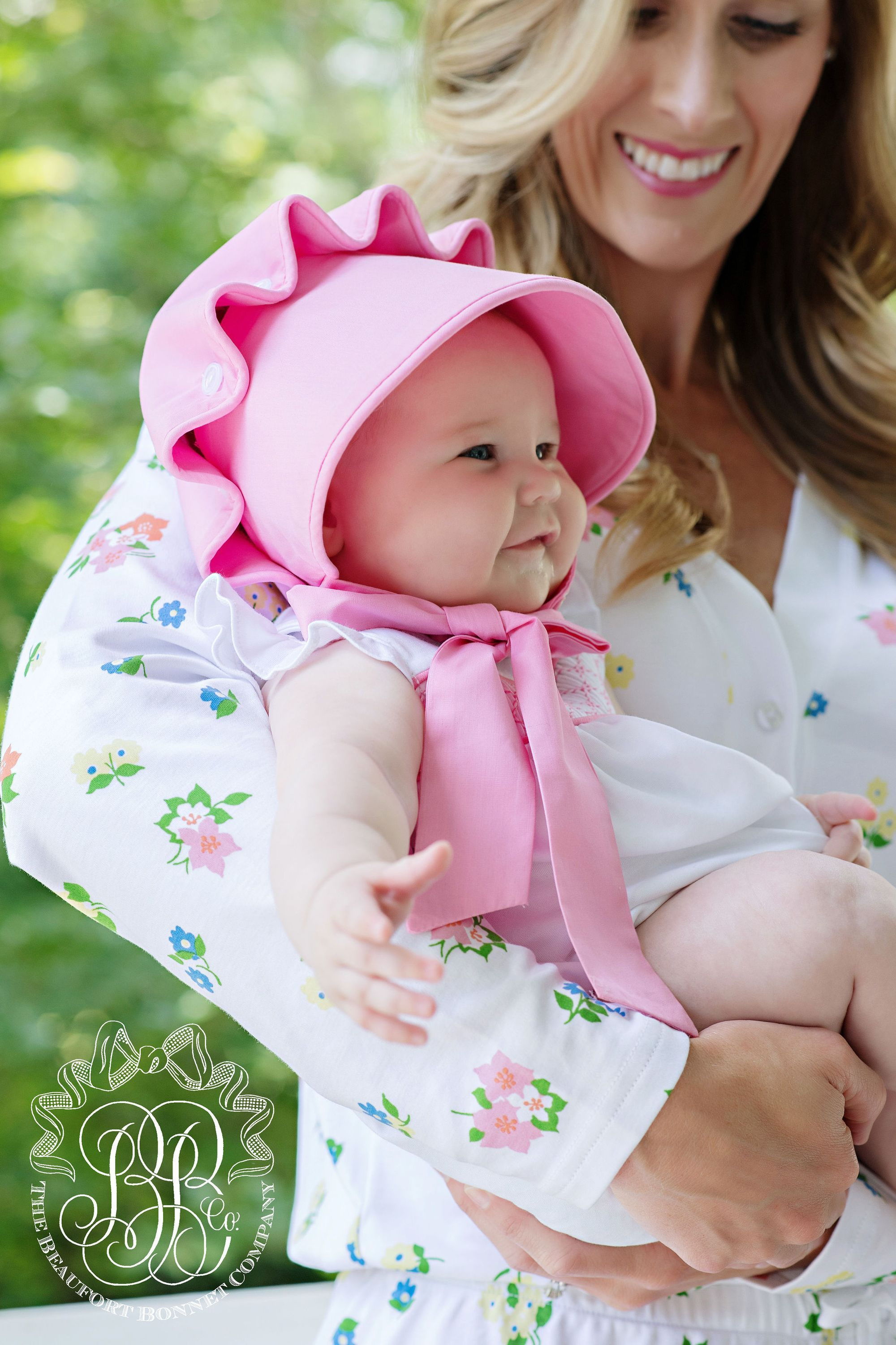 d11f7765daaf5 Banbury Bubble - Worth Avenue White with Hamptons Hot Pink - The Beaufort  Bonnet Company