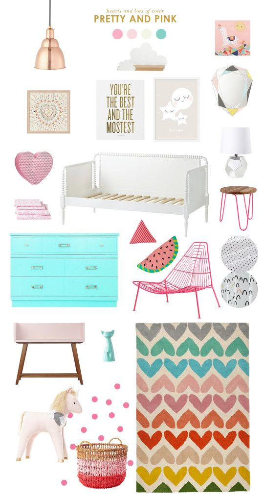 Pretty & Pink Girls Bedroom Design is part of Big bedroom For Girls - Embrace your girly side with this pretty and pink girls bedroom design idea by Joni of Lay Baby Lay