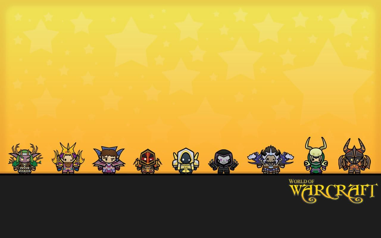 World of Warcraft chibi video games wallpaper (113150