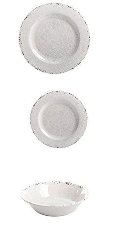 Rustic Melamine Plates. Gibson Studio Line by Laurie Gates Mauna 12 ...