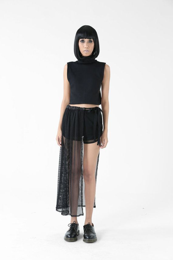 The Downdraft Skirt Pull Cord Skirt by NunBangkok on Etsy  119c44cc37