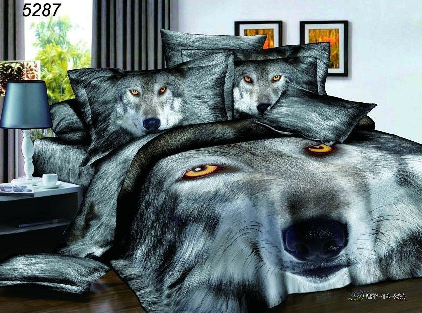 3d Leopard Bedding Set 100 Cotton Bedclothes 3d Animal Blanket Cover 4pcs Bed Set 3d Woof Duvet Cover Bedshe Queen Bedding Sets Animal Print Bedding Wolf Room