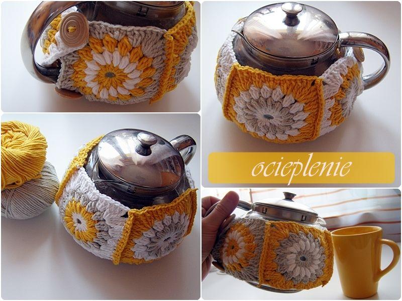 Szydelkowy Ocieplacz Na Dzbanek Sugar Bowl Set Bowl Set Crochet Home