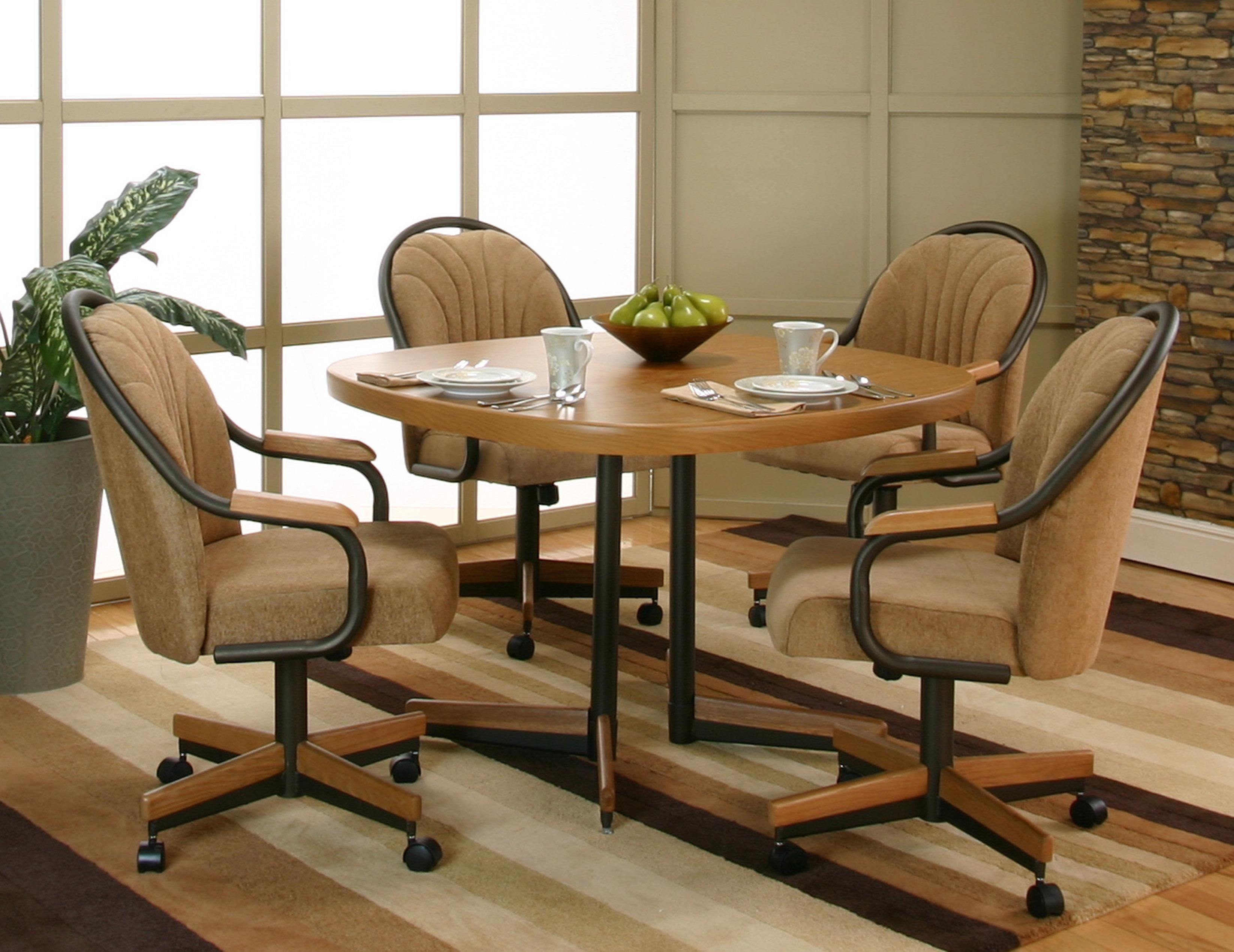 Swivel Dining Room Chairs Casters  Httpenricbataller Gorgeous Leather Swivel Dining Room Chairs Inspiration Design
