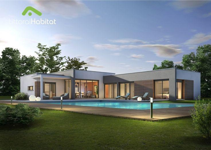 la maison toit plat derni re n e de notre gamme cette maison aux formes r solument modernes. Black Bedroom Furniture Sets. Home Design Ideas