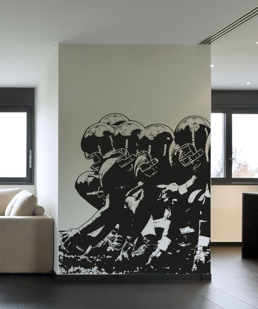 Football Player Lineup Wall Decal. #5086 | Home & Living ...