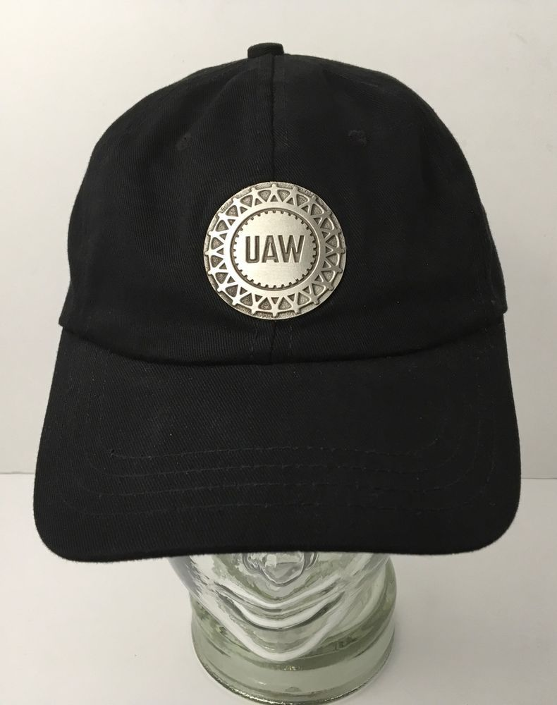 83c34428e107c UAW Baseball Hat Black with Metal Emblem Local 245 Union Made In The USA   Unionwear  BaseballCap
