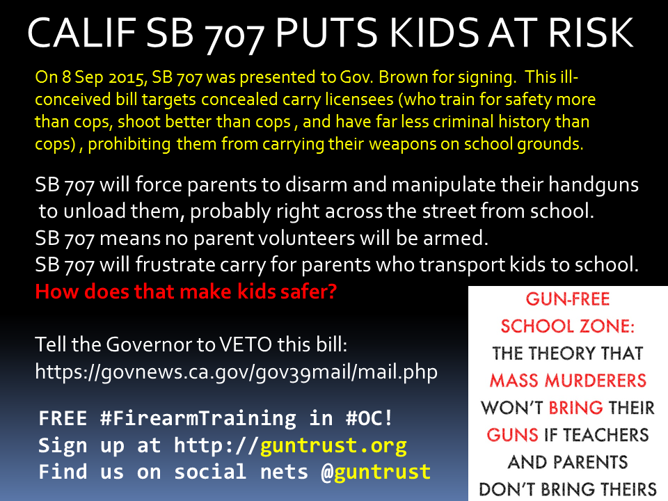 SB 707 WILL KILL KIDS. Tell the Governor to VETO it NOW