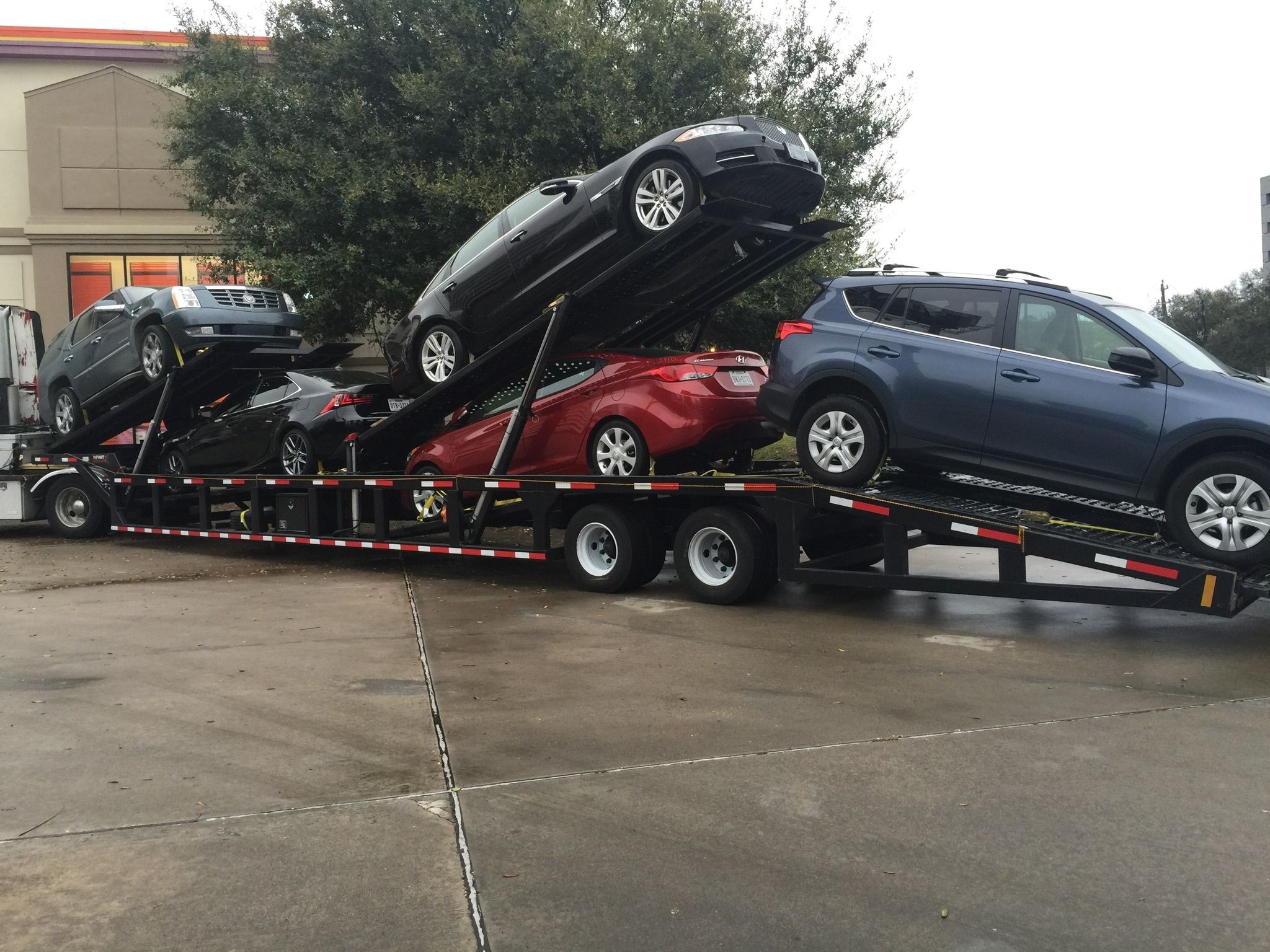 Pin by infinity trailers on 5 car hauler trailers car