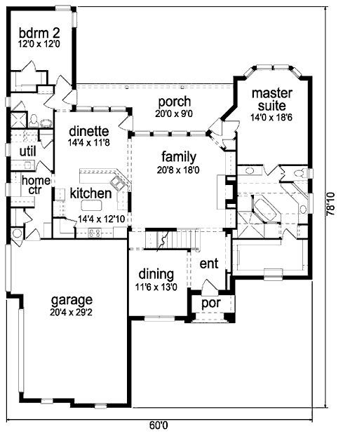 Love The Master Bath Walk Through Shower Bathroom Floor Plans House Plans House Floor Plans
