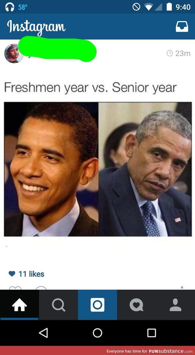 Freshman Year Vs Senior Year Funsubstance Freshmen Vs Seniors Freshman Memes Graduation Meme