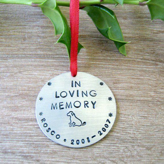 Personalized Pet Memorial Ornament, Dog Memorial Ornament