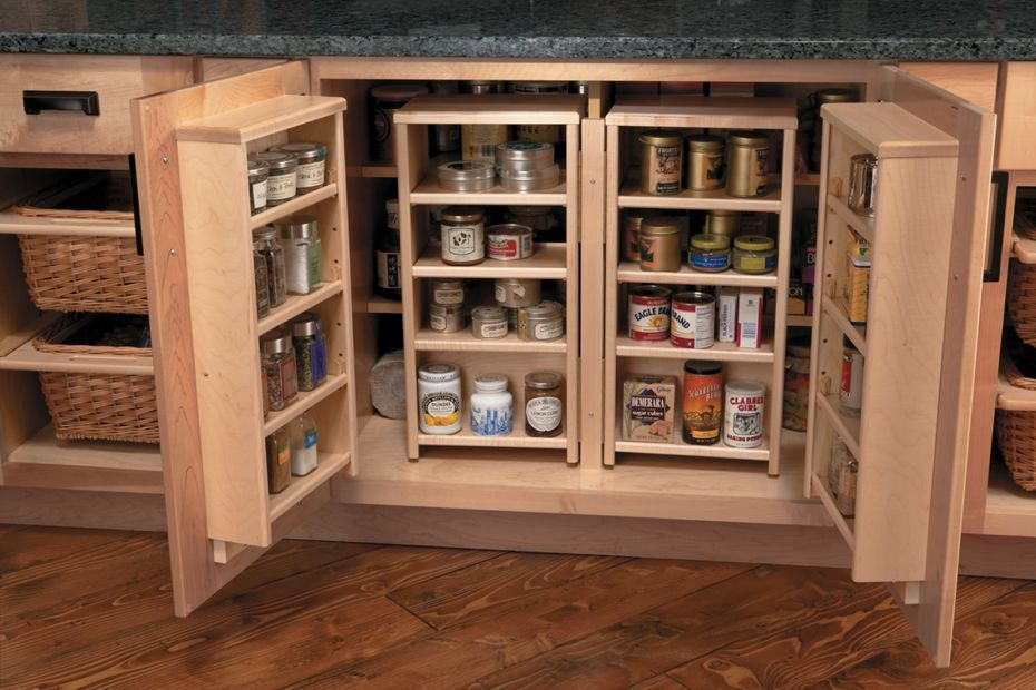 Medallion At Menards Cabinets Base Pantry Cabinet With Full Height Doors And Wicker Baskets Medallion Cabinets Pantry Cabinet Home Depot Pantry Cabinet