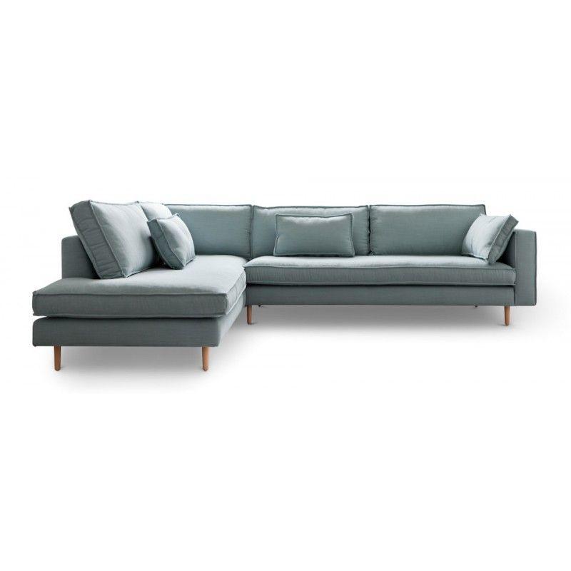 Canapé d angle gauche design Sacramento gris ATYLIA