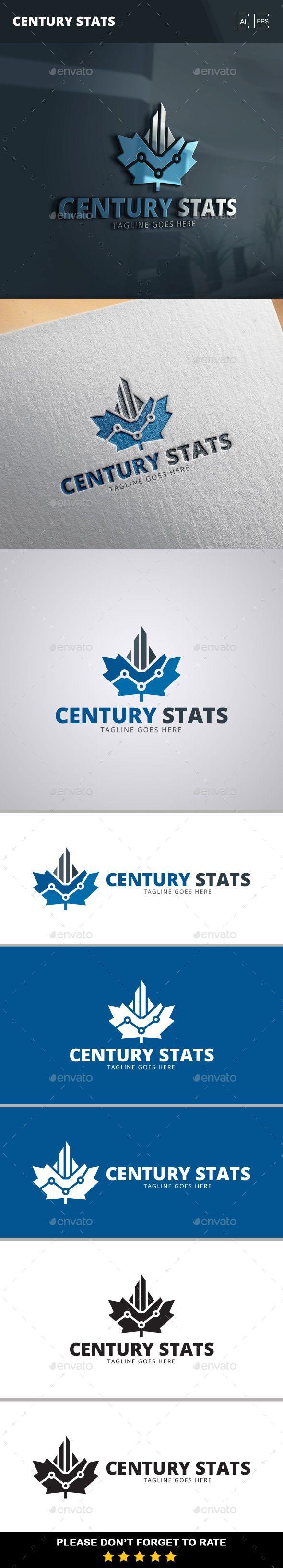 Century Stats Logo Template   Corporate Identity   Pinterest