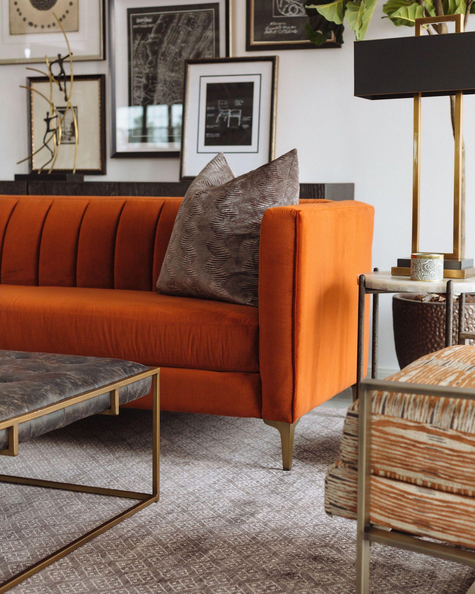 10+ Most Popular Orange Sofa Living Room