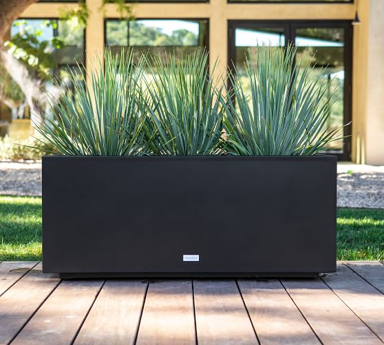 Long Box Planter In 2020 Outdoor Planters Modern Planters Outdoor Rectangle Planters