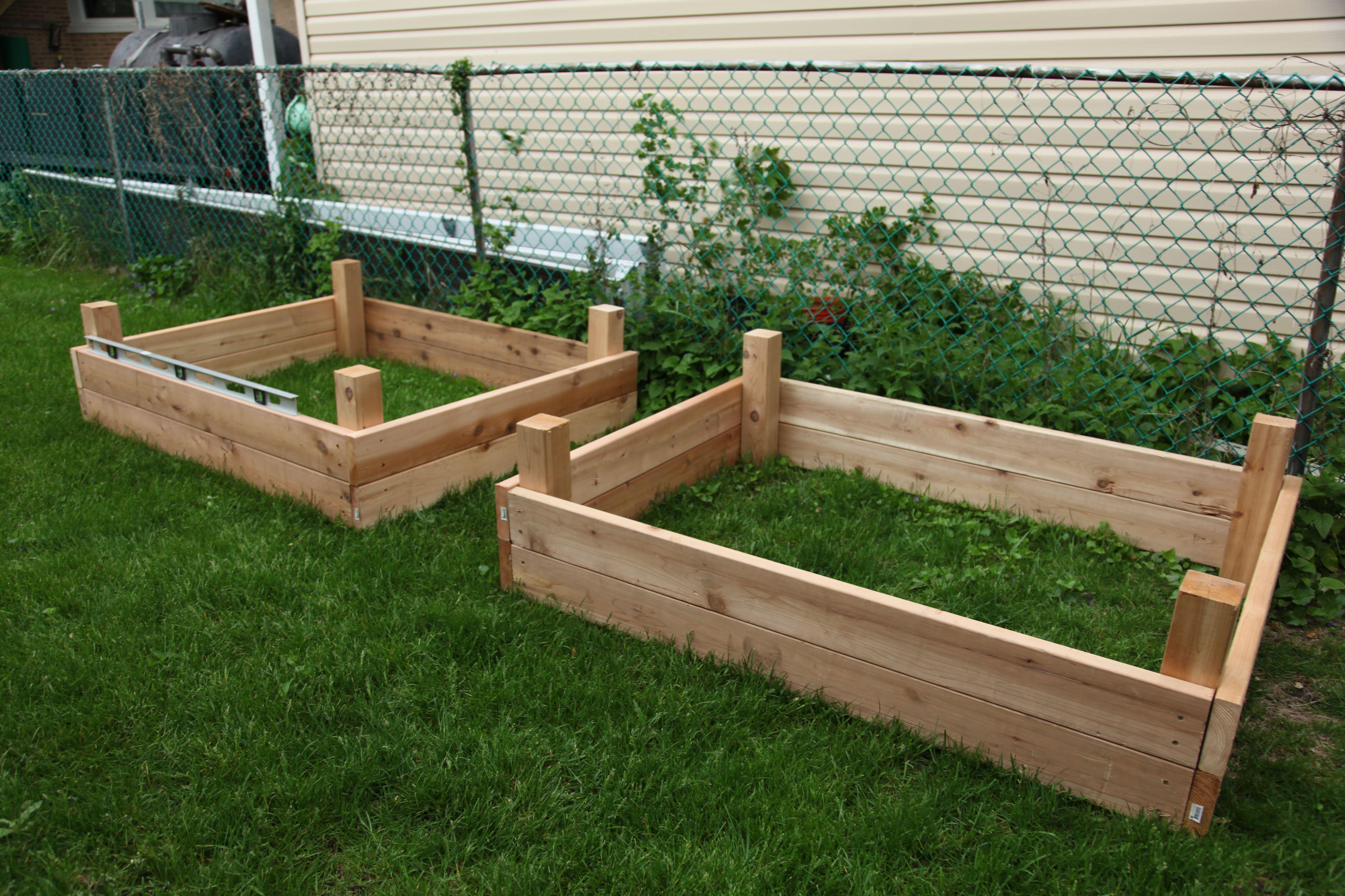 box duo garden pinterest raised garden bed plans gardens and garden boxes. Black Bedroom Furniture Sets. Home Design Ideas