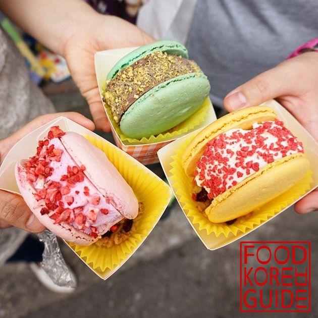 Ice Macaron Burger 아이스마카롱버거 (안티크 - Antique)
