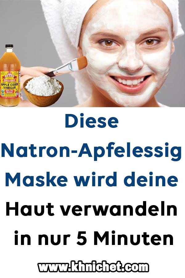 Diese Natron-Apfelessig-Maske wird deine Haut verwandeln in nur 5 Minuten #Apfel…