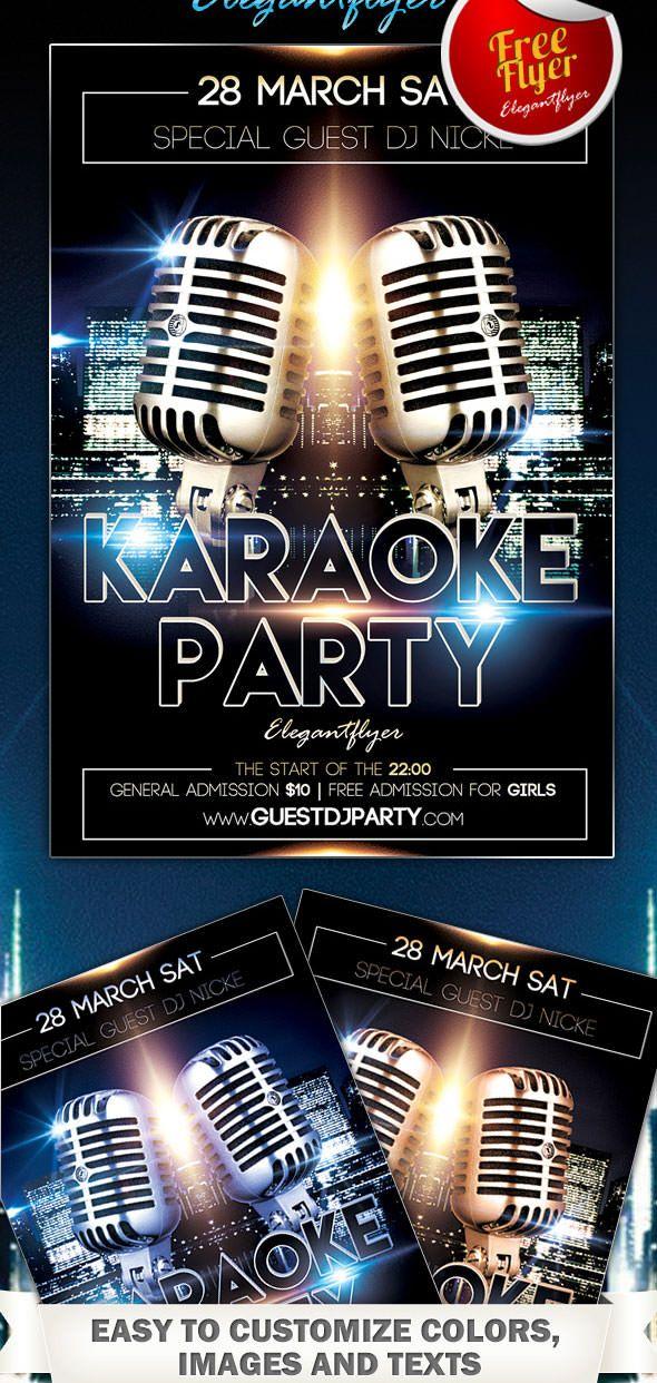 Karaoke Flyer Template Free Kwills Pinterest Karaoke Party