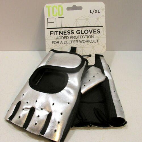 Womens Fitness Gloves Half Finger Exercise Sports Sz L XL Vegan Leather Neoprene 192040029438 | eBay...