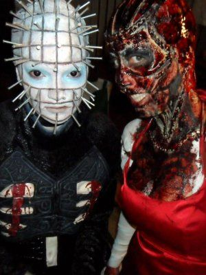 Adults Pinhead Hellraiser Priest Halloween Movie Fancy Dress Costume with Mask