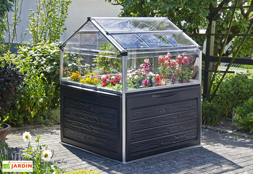 mini serre de jardin en aluminium et