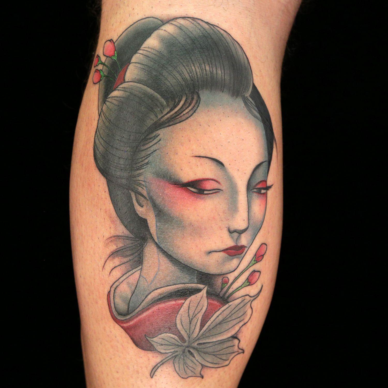 Geisha tattoo elegant geisha tattoo picture - Japanese Geisha Tattoo By Kelly Doty