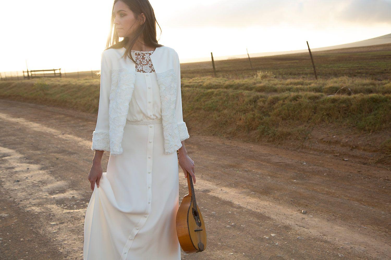 Rembo styling — Vintage — Joya: Krepp-Kleid mit Empire-Taille ...
