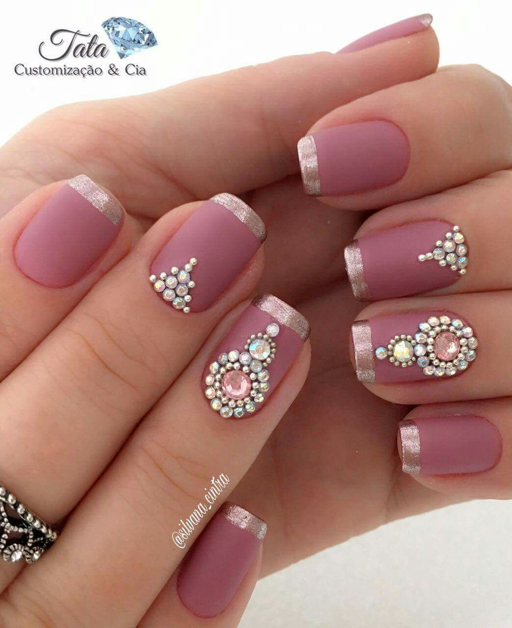Pin by Bia Ebersol on unhas | Pinterest | Jewel, Manicure and Pedicures