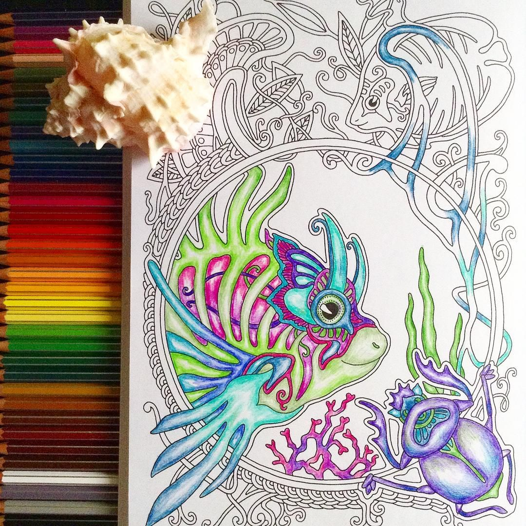My coloring book 🐠🐟 Рыбки из книги, которую я нарисовала ...
