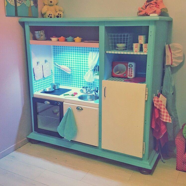 d tournement de meuble tv en super cuisine pour enfants diy pinterest meuble tv. Black Bedroom Furniture Sets. Home Design Ideas