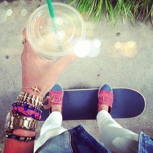 i really want a big watch and i really want to learn to skateboard/longboard