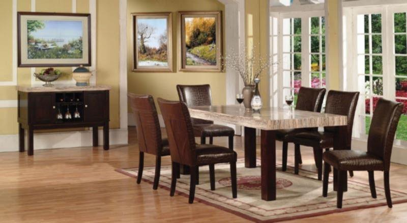 Acme Furniture Fraser 8 Piece Dining Table Set 70130 8set