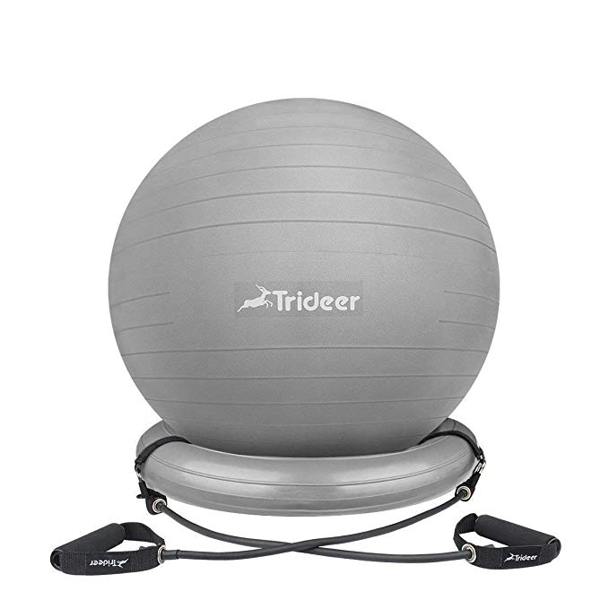 Inc. Brand Fitness Ball Chair Solid Black