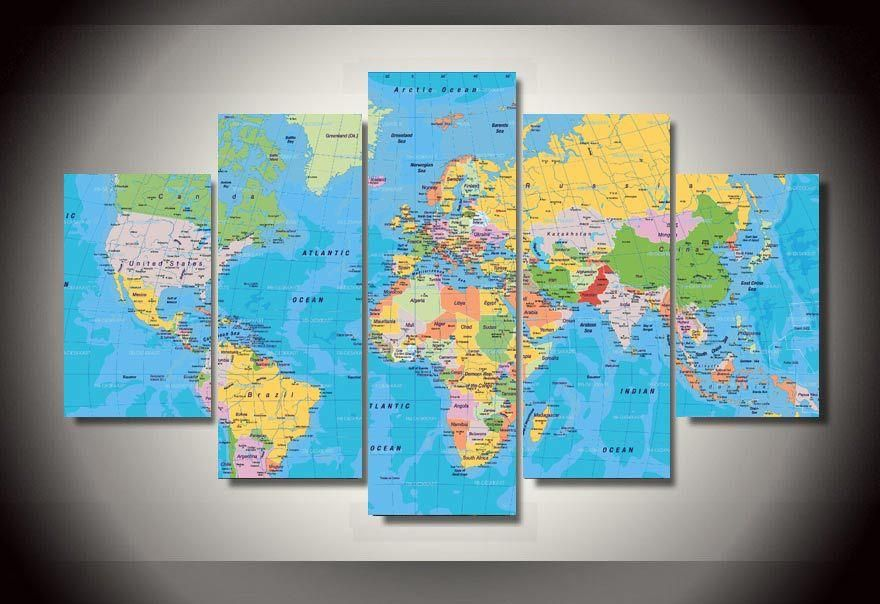 Hd printed world map group painting canvas print room decor print hd printed world map group painting canvas print room decor print poster picture canvas free shipping gumiabroncs Image collections