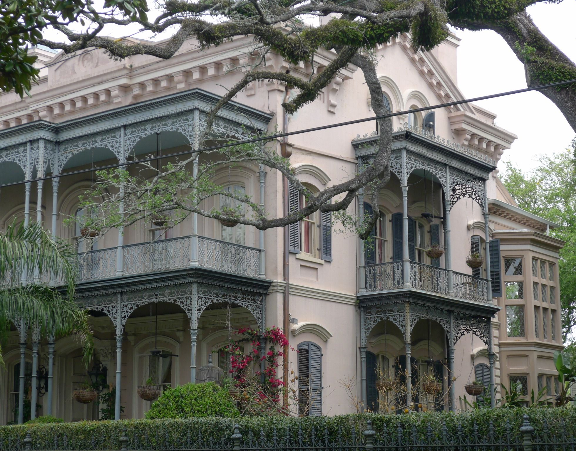 new orleans houses wrought iron balcony and veranda
