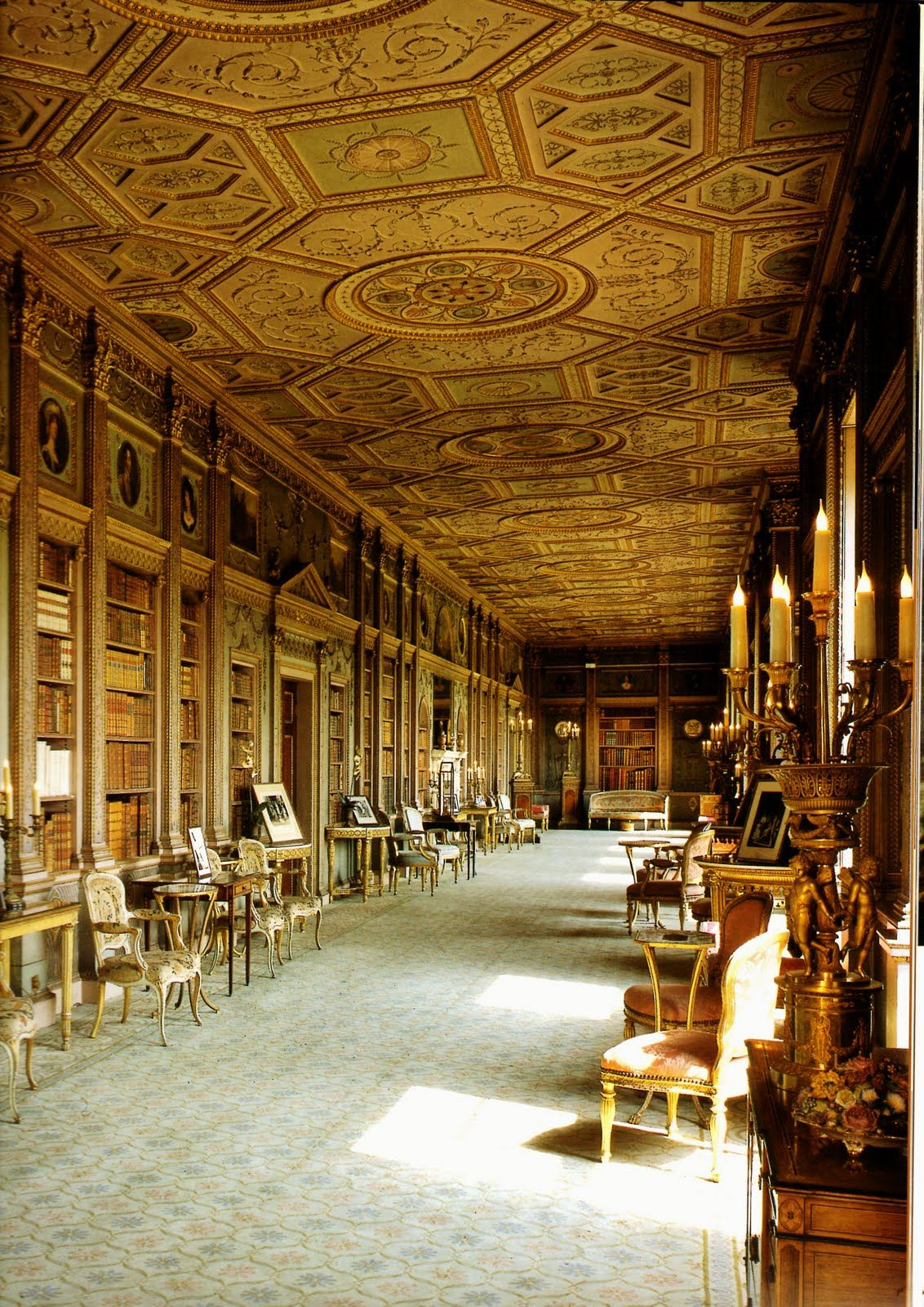 syon house library. london, england. the eclectic interior of the