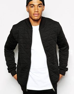 Systvm Repeat Quilted Bomber Jacket | J A C K E T S | Pinterest