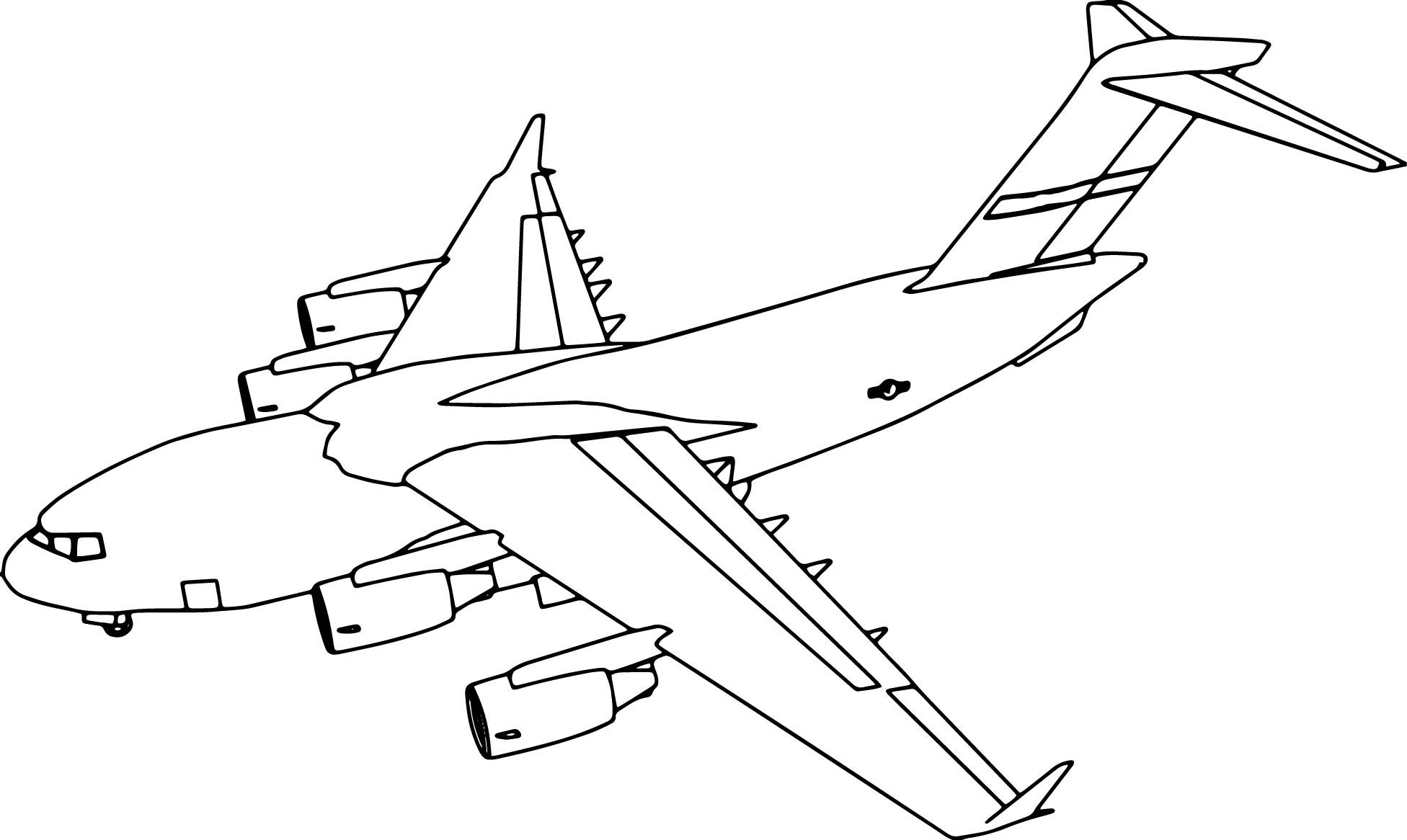 Cool C17 Plane Coloring Page