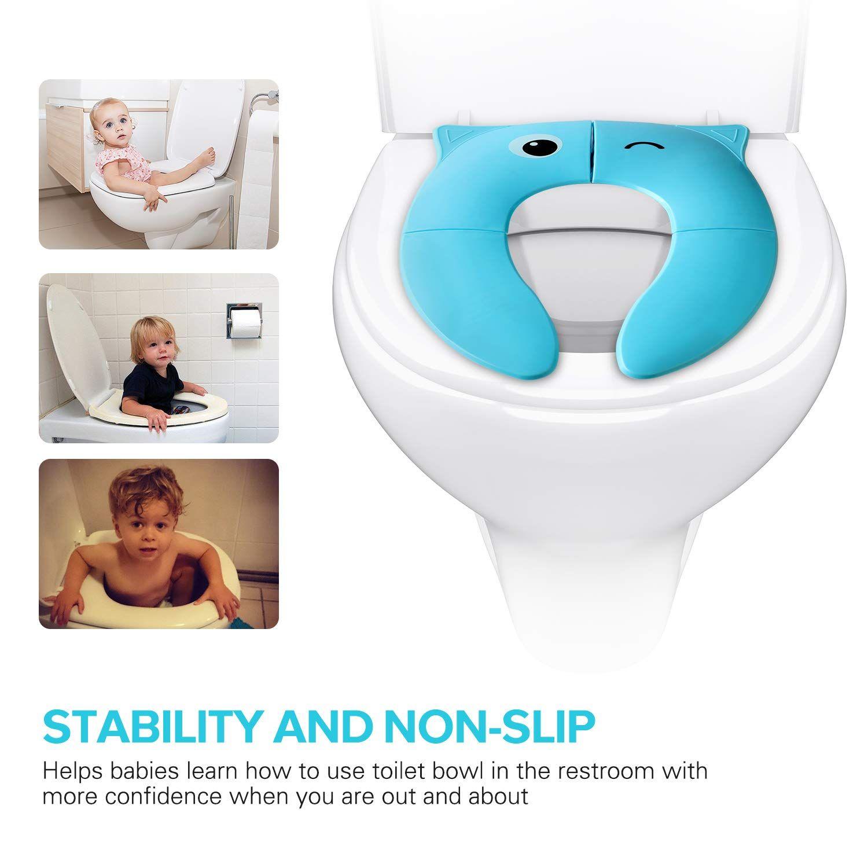 Torlam Folding Reusable Toilet Training Seat Portable Travel Potty