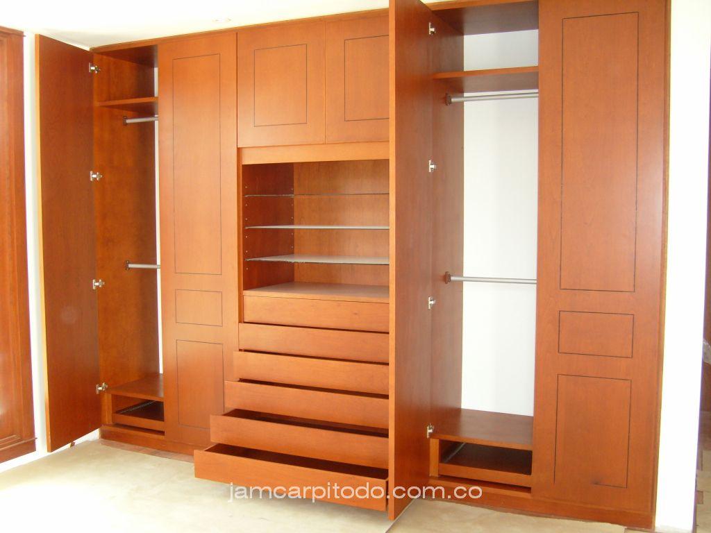 Muebles para biblioteca y closet madera 20170714144611 for Closet de madera para dormitorios