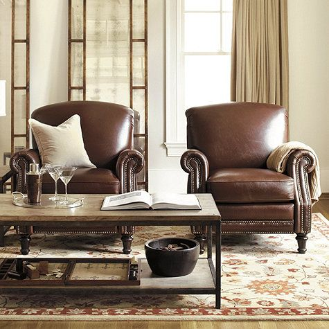 Theodore leather recliner delicious decor leather - Leather sofa arrangement in living room ...