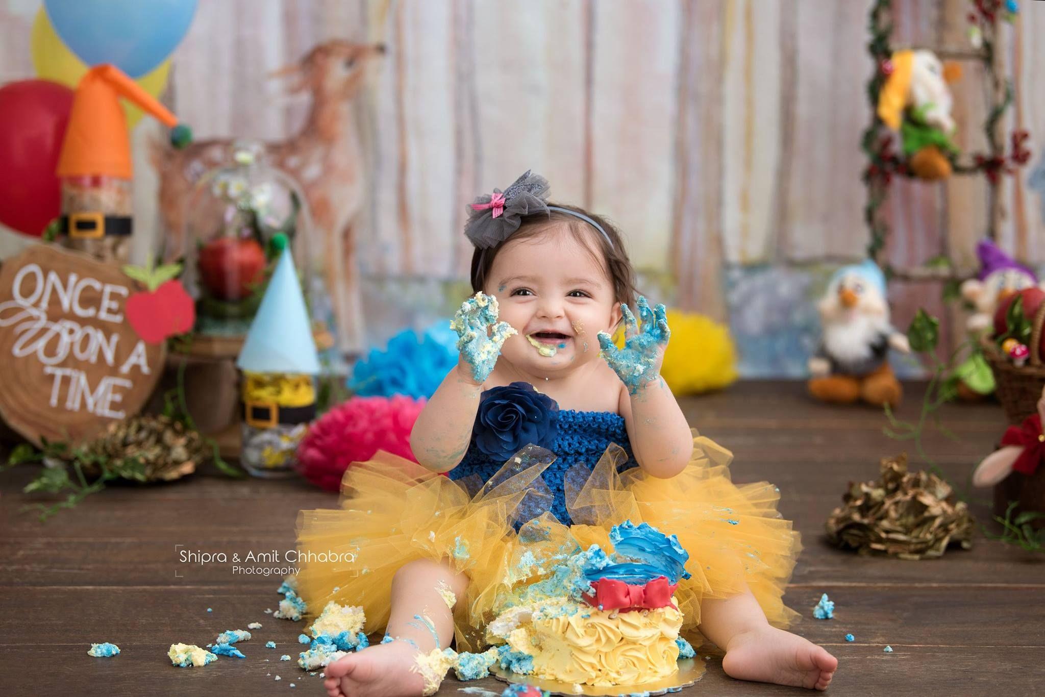 Photoshoot Packages Shipra Amit Chhabra Photography Smash Cake Photo Props Snow White Birthday Party Smash Cake Girl