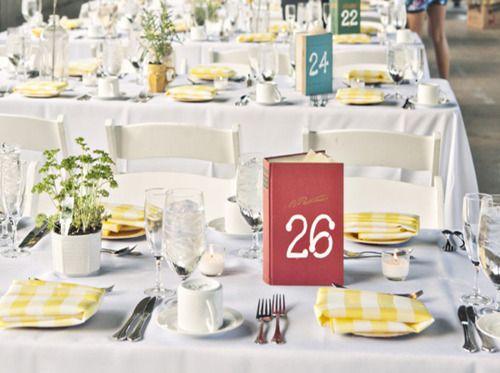 Cute table number idea