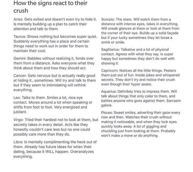 How the signs react to their crush   gemini   Zodiac signs